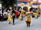 El desfile del domingo puso el broche final a una intensa semana de carnaval en Santiago de la Ribera