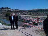 La CHS arregla el cauce del río Mula a su paso por Campos del Río para mejorar su respuesta ante avenidas