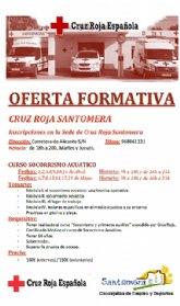 El Ayuntamiento de Santomera y Cruz Roja ofertan un curso de Socorrismo Acuático