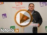 El candidato de IU-Verdes en Totana, Juan José Cánovas, hace un llamamiento al PP y PSOE