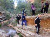 Cerca de 40 senderistas participaron en la ruta senderista que discurrió por el río Chicamo en Abanilla