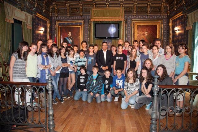 Los jóvenes franceses visitan Mazarrón - 1, Foto 1