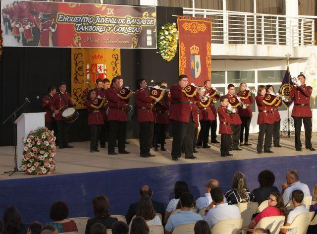 Puerto Lumbreras ha celebrado el IX Encuentro Juvenil de Bandas de Tambores y Cornetas 2011 con la participación de  más de 300 músicos, Foto 1