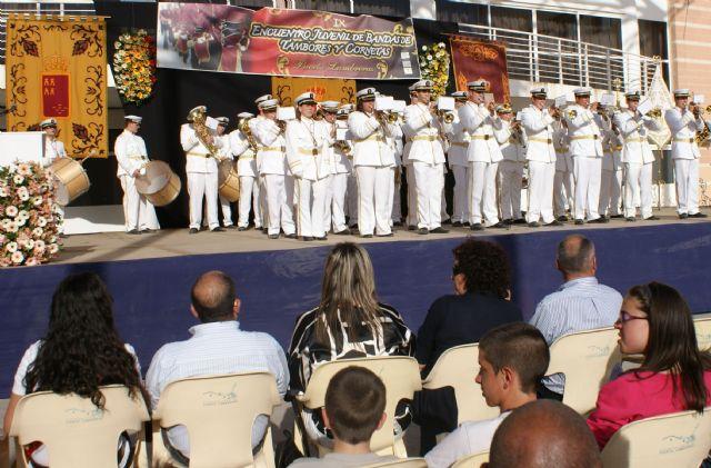 Puerto Lumbreras ha celebrado el IX Encuentro Juvenil de Bandas de Tambores y Cornetas 2011 con la participación de  más de 300 músicos, Foto 2