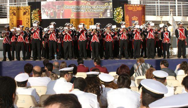 Puerto Lumbreras ha celebrado el IX Encuentro Juvenil de Bandas de Tambores y Cornetas 2011 con la participación de  más de 300 músicos, Foto 3