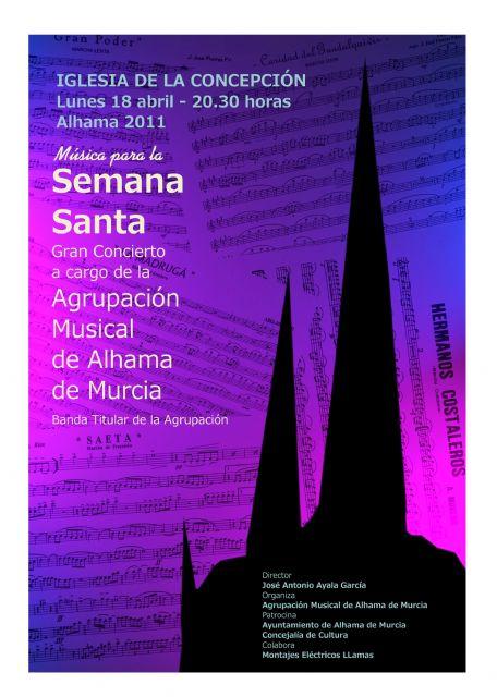 El coro y la banda titular de la Agrupación Musical de Alhama ofrecen conciertos durante esta Semana Santa, Foto 3