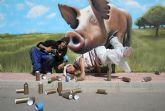 ELPOZO ALIMENTACI�N contrata dos graffiteros profesionales para decorar sus instalaciones