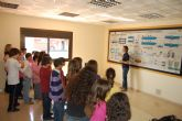 Los escolares de Las Torres de Cotillas aprenden cómo funciona la EDAR