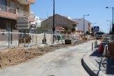 Las obras en la avenida de la Estación mejorarán el firme en una de las principales arterias de Torre Pacheco