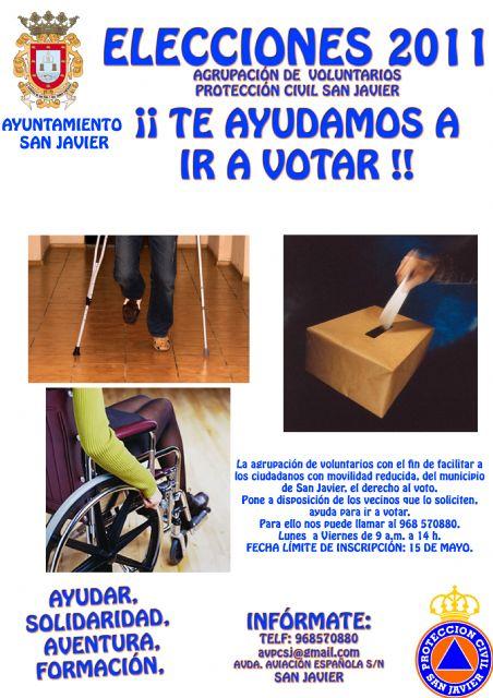 Voluntarios de Protección Civil facilitarán el derecho al voto a las personas con problemas de movilidad del municipio - 1, Foto 1