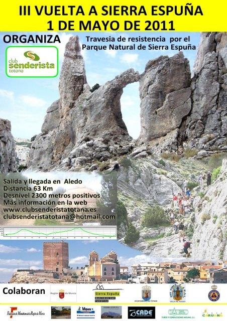 Más de 130 deportistas participarán en la III Vuelta a Sierra Espuña de Senderismo - 1, Foto 1