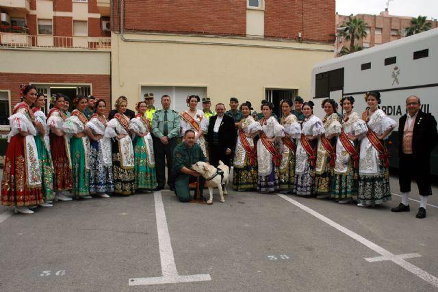 La Reina de la Huerta y sus Damas de Honor visitan las instalaciones de la Guardia Civil de Murcia - 1, Foto 1