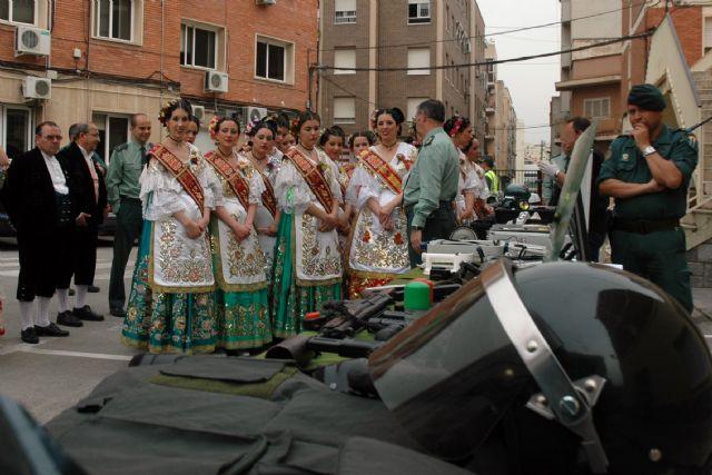 La Reina de la Huerta y sus Damas de Honor visitan las instalaciones de la Guardia Civil de Murcia - 2, Foto 2