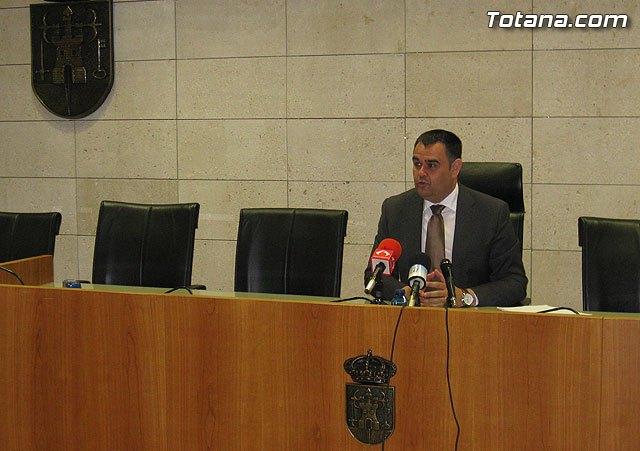 Rueda de prensa del alcalde de Totana sobre la Orden de la Consejería de Obras Públicas y Ordenación de Territorio - 1, Foto 1