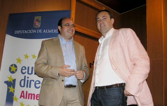Sánchez explica el 'Modelo de Crecimiento Sostenible' de Puerto Lumbreras en un conferencia en la Universidad de Almería coincidiendo con el Día de Europa - 1, Foto 1
