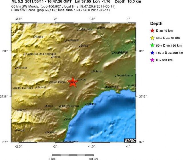 Nuevo terremoto en la zona de Lorca, Foto 1