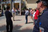 Minuto de silencio en Las Torres de Cotillas en apoyo a los damnificados del seísmo de Lorca