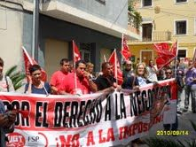 Los empleados públicos del ayuntamiento de Ricote se concentran de nuevo para exigir la negociación de sus condiciones laborales, paralizadas desde 2002 - 1, Foto 1