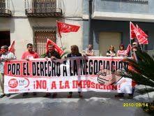 Los empleados públicos del ayuntamiento de Ricote se concentran de nuevo para exigir la negociación de sus condiciones laborales, paralizadas desde 2002 - 3, Foto 3
