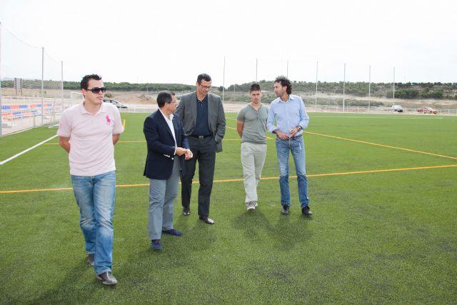 Antonio Peñalver visita la Ciudad Deportiva de Mazarrón - 1, Foto 1