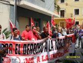 Los empleados públicos del ayuntamiento de Ricote se concentran de nuevo para exigir la negociación de sus condiciones laborales, paralizadas desde 2002