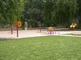 En funcionamiento el Parque Geriátrico o Circuito Biosaludable para personas mayores en la plaza del Museo