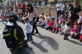 Alumnos de la Escuela Municipal Infantil 'Clara Campoamor' participan en un sencillo simulacro