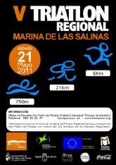 El Parque Regional de Salinas y Arenales de San Pedro acoge la quinta edición del triatlón pinatarense