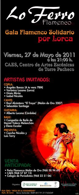 Duda apadrinará la Gala de flamenco y copla de Torre Pacheco a beneficio de los damnificados por el terremoto de Lorca - 1, Foto 1