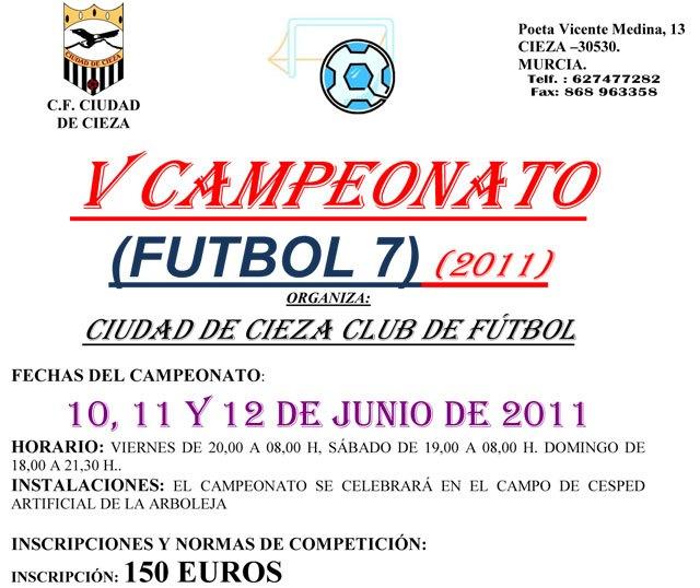 V campeonato fútbol 7 C.F. Ciudad de Cieza (24 h.) - 1, Foto 1