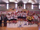 El equipo de balonmano cadete femenino del colegio Fahuarán, campeón regional