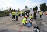 Efectivos de la Gerencia de Emergencias Sanitarias participan en un simulacro de terremoto