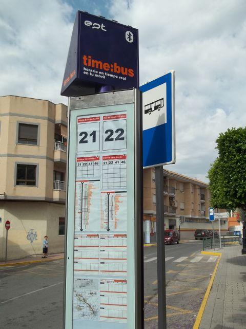 La Entidad Pública del Transporte de la Región de Murcia instala nuevas paradas con sistema ´bluetooth´ en Alguazas - 2, Foto 2