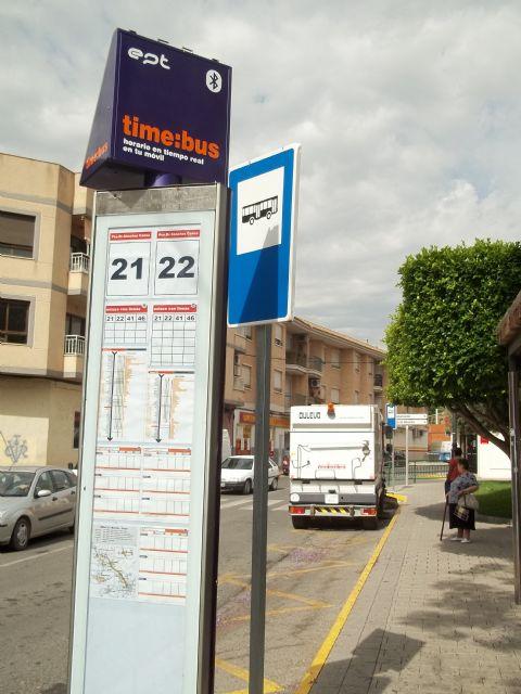 La Entidad Pública del Transporte de la Región de Murcia instala nuevas paradas con sistema ´bluetooth´ en Alguazas - 3, Foto 3