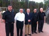 Campos acompañó al Obispo de la ciudad de Ambato (Ecuador) a visitar las instalaciones del campament o de La Torrecilla