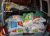 La Guardia Civil recupera 750 kilos de productos fitosanitarios sustraídos en dos explotaciones agrícolas de Cieza
