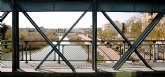 Obras Públicas realiza la fase preparatoria para el traslado de la plataforma del puente sobre el río Segura en Archena