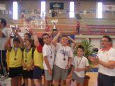 Sesenta alumnos de los colegios Reina Sofia, Tierno Galván y Santiago participaron en la final regional de Deporte Escolar de Nano Nana Práctica Grecorromana