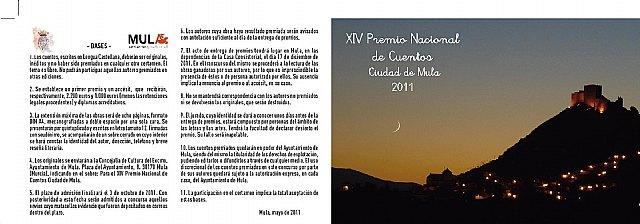 Bases del XIV Certamen Nacional de Cuentos Ciudad de Mula 2011 - 1, Foto 1