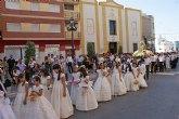 Los niños y niñas lumbrerenses que hicieron la Primera Comunión celebraron la tradicional procesión del Corpus 2011
