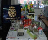La Policía Nacional desmantela un centro de cultivo, procesamiento y distribución de marihuana y hachís en Molina de Segura