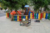 Comienzan las obras de renovación del jardín del barrio torreño de Los Vicentes