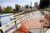 Corte de tráfico del puente del Barrio de la Concepción por el traslado de la pasarela peatonal