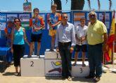 Éxito de los nadadores locales más jóvenes en la IX Travesía Playas de San Javier
