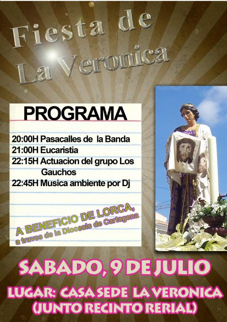 "On Saturday, July 9 there will be the ""Fiesta in honor of Veronica"""