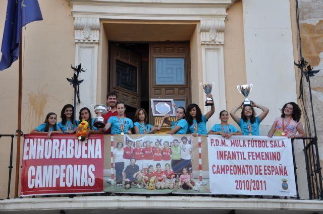 El Ayuntamiento de Mula rinde homenaje al PDM Mula Fútbol Sala Infantil Femenino - 2, Foto 2