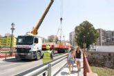 Corte de tráfico por la colocación del arco del puente del Barrio de la Concepción