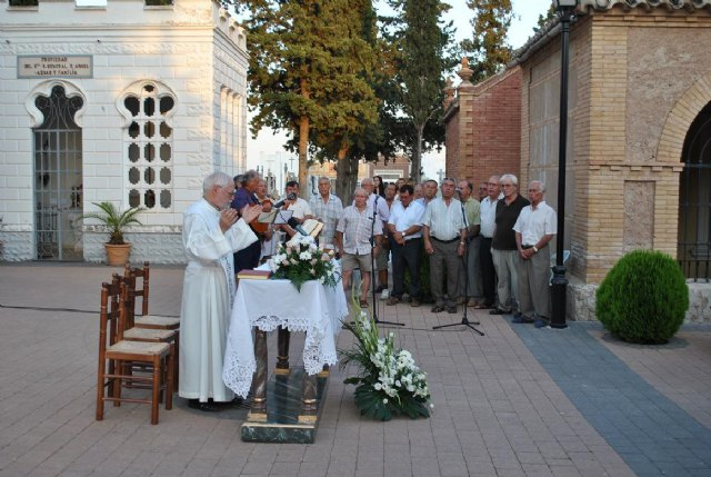"Municipal Cemetery celebrated the name day of ""Nuestra Señora del Carmen"" with a Mass for the dead"