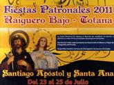 Las fiestas de Raiguero Bajo, en honor a Santiago Apóstol y Santa Ana, tendrán lugar del 23 al 25 de julio