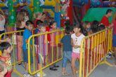 Los niños disfrutaron durante estas fiestas de Santiago de las actividades lúdicas e hinchables